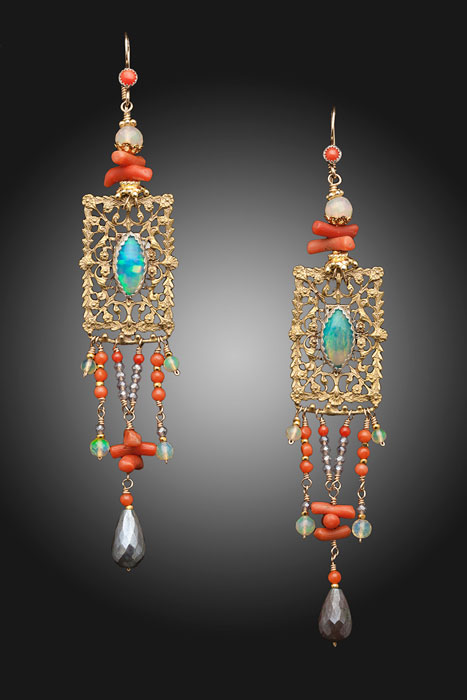 Coral Rapsody Earrings