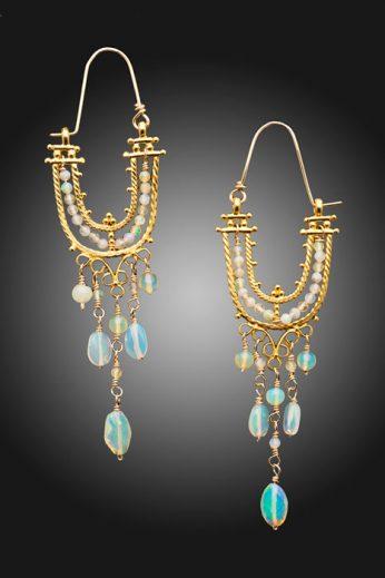 Opal Cascade Earrings