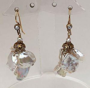 Sterling Silver, Agatha, pearl Earings