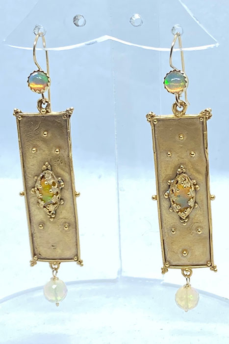 Sterling Silver, Gold Plate, Ethiopian Opals