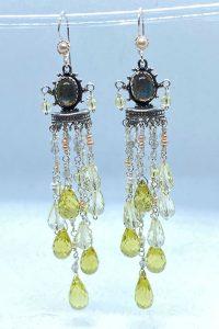 Sterling Silver, Lemon Citrine, Pearls, Labradorite