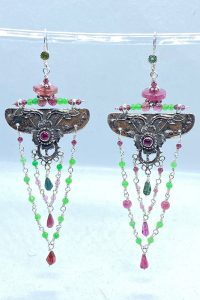 Sterling Silver, Ruby, Tourmalines, Crisophraes
