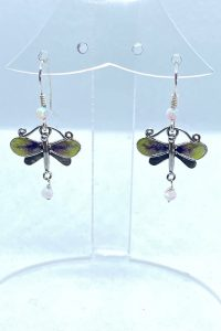 Sterling Silver, Enameled, Opals