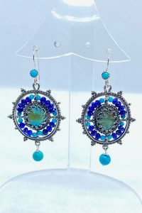 Sterling Silver, Turquoise, Lapiz