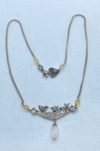 Sterling Silver, Ethiopian Opals necklace