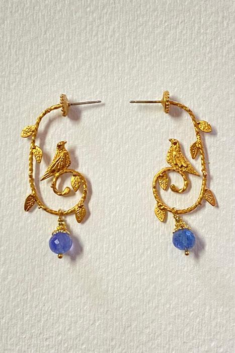 Goldplate, Tanzanite Musi Earrings