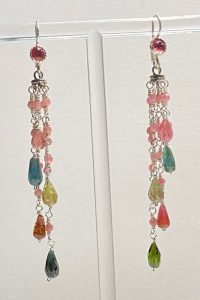 Sterling Silver, Tourmalines Musi Earrings