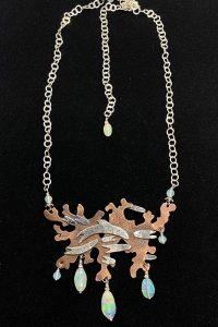 Copper, Sterling Silver, Ethiopian Opals Musi Necklace