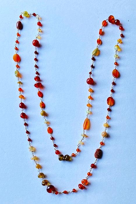 Goldfilled, Carnilian, Gold Stone, Ethiopian Opals Musi Earrings