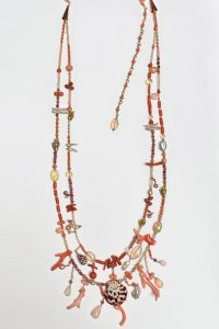 Coral, Tourmaline, Ethiopian Opals, Shells—Musi Necklace