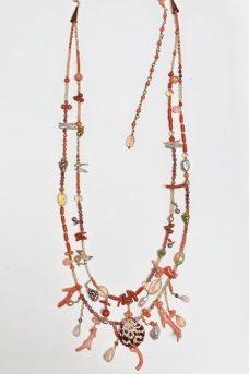 Coral, Tourmaline, Ethiopian Opals, Shells—Musi Necklace