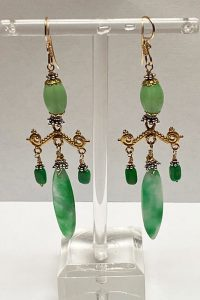 Sterling Silver, Goldfilled, Jade, Turquoise Musi earrings