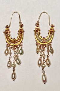 Gold Filled, Pearls Earrings