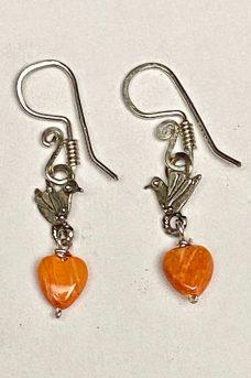 Earrings Sterling Silver, Spondula Shell