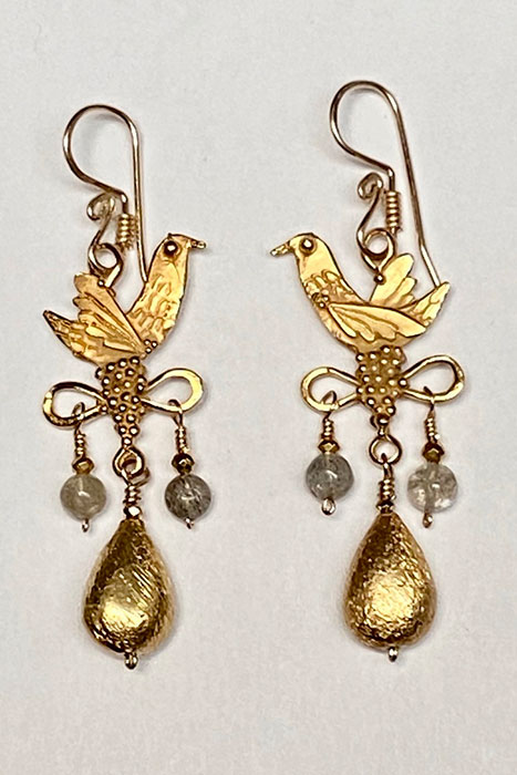 Gold Filled, Labradorite Earrings