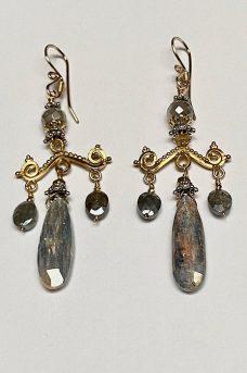 Earrings: Gold Filled, Labradorite, Sterling Silver